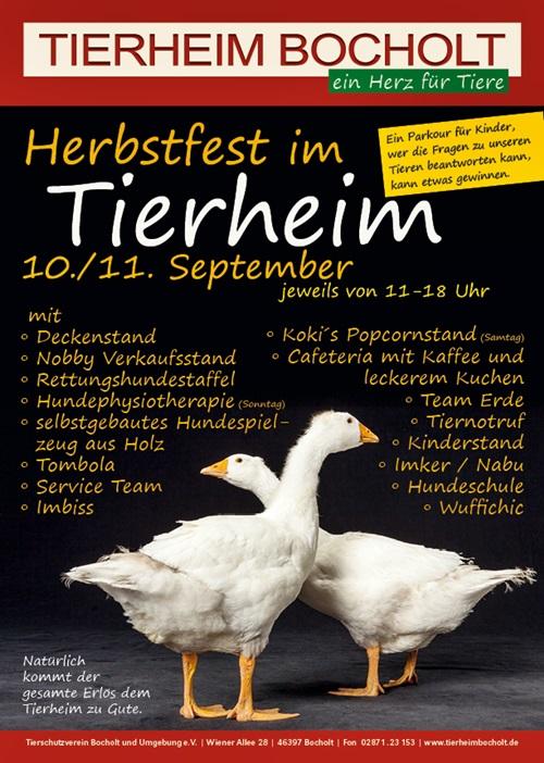 Herbstfest Plakat TH Bocholt