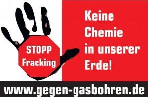 Das Logo der Initiative gegen Gasbohren.